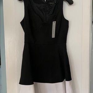 Black Halo black and white cocktail Dress, Sz 10